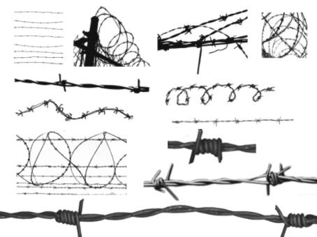 barbed wire font. 35 Barbed Wire Brushes for